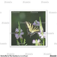 Butterfly In The Garden Paper Napkin
