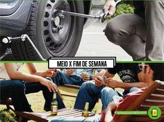 Meio de semana pede ajuda pro amigo com o pneu que furou lá na Rondon. Mas fim de semana... Turma reunida!  #partiuUberChopp #26set