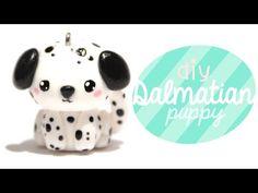 DIY Kawaii Dalmatian Puppy Polymer Clay Tutorial