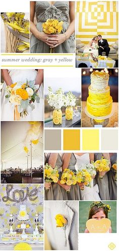 Yellow and Grey Wedding idea