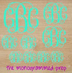 Sheet of Monogram Stickers Pack Set by TheMonogrammedPrep on Etsy