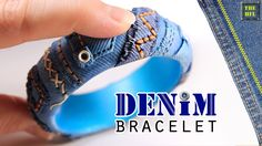 ► Полимерная глина - ДЖИНСОВЫЙ БРАСЛЕТ ( polymer clay DENIM bracelet )
