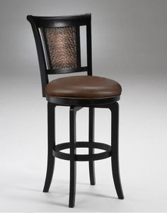 Van Draus Swivel Bar Stool Black Finish