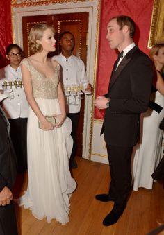 britishnobility:  Duke of Cambridge met Taylor Swift at Kensington Palace for the Centrepoint Winter Whites Gala on November 26, 2013 in London, England.