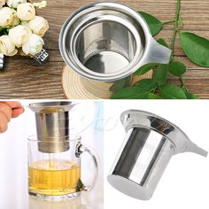 Stainless Steel Mesh Tea Infuser Reusable Tea Strainer Loose Tea Leaf Filter Coffee Filters for Loose Tea-Leaf Tools Tea Strainer, Tea Infuser, Leaf Filter, Buy Tea, Stainless Steel Mesh, Loose Leaf Tea, Tea Pots, Ebay, Kitchen Appliances