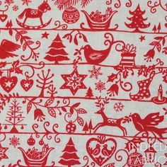Scandinavian Christmas from the Scandi Christmas collection by Makower for Andover Fabrics.    100% Quilting-weight cotton    Half-Yard- 18 x 44