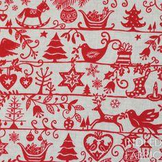 Scandinavian Christmas- Scandi Christmas, Makower, Andover Fabrics, Quilting Weight Cotton