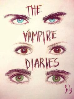The vampire diaries... Damon, Elena and Stefan( drawing)