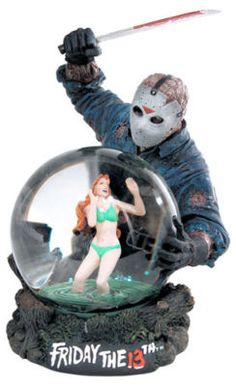 Friday The 13th Snow Globe