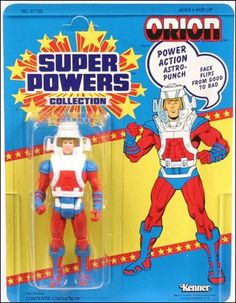 Super Powers Collection Action F. Orion, Jan 1986 Action Figure by Kenner Dc Heroes, Comic Book Heroes, Retro Toys, Vintage Toys, Xman Marvel, Dc Comics Action Figures, Kenner Toys, Modern Toys, Classic Toys