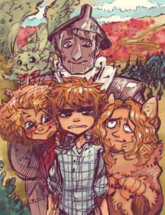 Hetalia Wizard of Oz<<the art style I'm crying ;u; tho I  can't seem to…