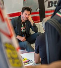 "angelofberlin2000: ""Keanu during Italian Grand Prix at the Mugello racetrack on May 31, 2015 Keanu in the Ducati Garage at Mugello Circuit picture taken by Stefan Saros and shared on his..."