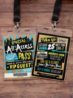 Hip Hop Swagger VIP PASS backstage pass Vip by LyonsPrints on Etsy