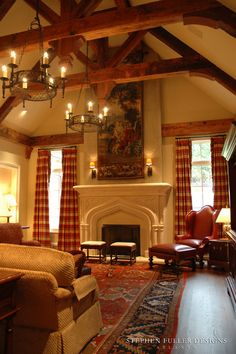 An English Country Family Room - traditional - family room - atlanta - by Stephen Fuller Designs