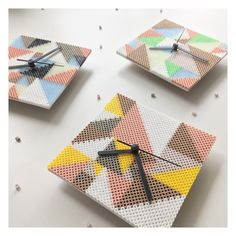 Clocks hama beads by sthlmdeco More