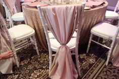 Limewash Chiavari chair with pink overlay in chiffon and crystal buckle. www.platinumraspberry.co.uk yours to be lilac with purple foam rose