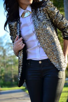 // sparkly blazer