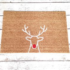 Hey, I found this really awesome Etsy listing at https://www.etsy.com/listing/244873028/rudolph-welcome-mat-doormat-door-mat