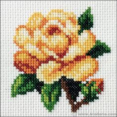 This Pin was discovered by Esm Mini Cross Stitch, Simple Cross Stitch, Cross Stitch Rose, Cross Stitch Borders, Cross Stitch Flowers, Cross Stitch Charts, Cross Stitching, Cross Stitch Embroidery, Embroidery Patterns