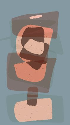 Digital sketches on abstract project, color palette study