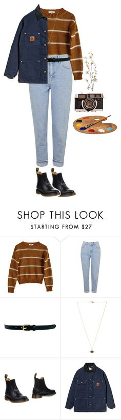 """artsy"" by julietteisinthe80s ❤ liked on Polyvore featuring Samuji, Topshop, Warehouse, Ileana Makri, Dr. Martens, Carhartt and Pier 1 Imports"