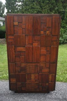 Lane Brutalist Armoire In The Style Of Paul By StaticAgeRevival, $1500.00