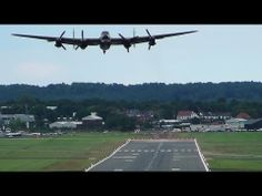 """"""""""" The Waving Bomb Aimer """". Awesome Sounding Lancaster Takeoff With Spitfire Lead. - YouTube"""" And a Spitfire to start."""