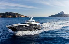 Immerse yourself in one of the most luxurious raised pilothouse yachts in the world - the Princess - as she cruises along the coast of Mallorca Princess Yachts, M Class, Cool Deck, Yacht Boat, Yacht Design, Super Yachts, Motor Yacht, Speed Boats, Jet Ski