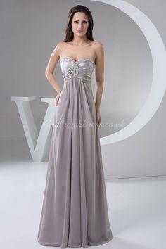 A-line Chiffon Sweetheart Empire Floor-Length Zipper Sleeveless Beading Ruching Criss Cross evening dress