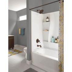 Classic 400 32 In. X 60 In. X 60 In. 3 Piece Direct To Stud Tub Surround In  High Gloss White / $250