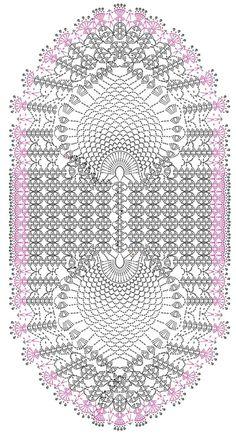 Crochet Doily Diagram, Crochet Motif Patterns, Crochet Flower Tutorial, Crochet Flowers, Crochet Stitches, Crochet Dollies, Crochet Potholders, Pineapple Crochet, Crochet Table Runner