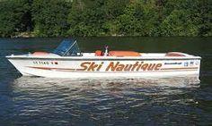 Vintage Ski Nautique Vintage Boats, Vintage Ski, Slalom Skiing, Ski Boats, Power Boats, Water Crafts, Water Sports, Summer Time, Swimming
