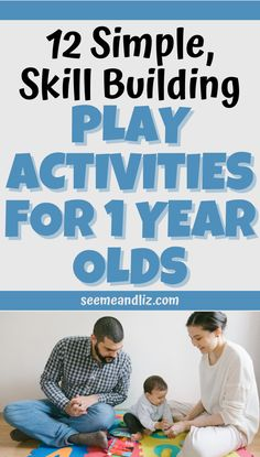 The best play activities for 1 year olds are actually quite simple and don't require much prep work. These 12 baby play activities are packed with opportunities for skill development! Baby Learning Toys, Activities For 1 Year Olds, Baby Development, Baby Play, Thing 1, Baby Games, Toddler Games, Baby Toys, Infant Play