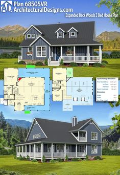 Archiitectural Designs Editors Pick House Plan 68505VR gives you 3 beds, 2.5 baths and over 2,000 square feet of heated living space. Ready when you are. Where do YOU want to build? #68505vr #adhouseplans #architecturaldesigns #houseplan #architecture #newhome #newconstruction #newhouse #homedesign #dreamhome #dreamhouse #homeplan #architecture #architect #craftsman #country #editorspick