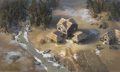 http://i.imgur.com/r95Go9X.jpg http://jonasjensenart.deviantart.com/art/Age-of-Empires-Town-Center-255469105 http://www.reddit.com/r/gaming/comments/21cvp6/age_of_empires_town_center_painted_in_photoshop/