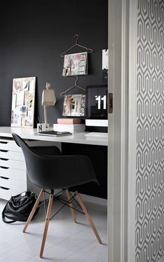Büro einrichtungsideen modern  Fashion Blogger Home Office, stylisches Home Office, Büro für ...