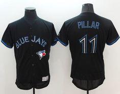 02d9e39b7 Men s Toronto Blue Jays Kevin Pillar Lights Out Black Fashion Stitched MLB  2016 Majestic Flex Base Jersey