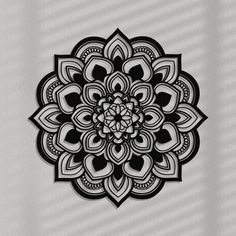 Geometric Mandala Tattoo, Mandala Tattoo Design, Tattoo Designs, Mandala Art Lesson, Mandala Drawing, Wooden Wall Panels, Wood Wall Art, Clock Decor, Wall Decor