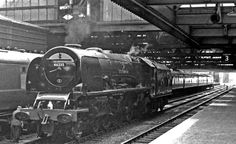 46235 City of Birmingham fresh out of maintenance at Crewe Works, June 1962