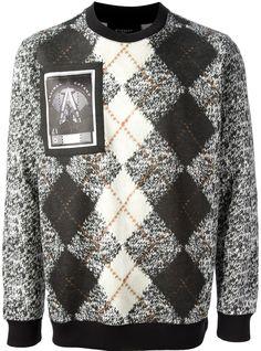Givenchy argyle print sweater