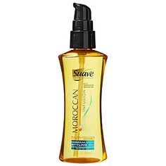 Suave Professionals Moroccan Infusion Styling Oil, $6  A few pumps leave hair soft, glossy, and easy to style. For a deep-shine treatment, apply before you shampoo.