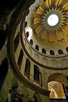 Ceiling Church of the Holy Sepulchre - Jerusalem by Frank Janssens, via Flickr