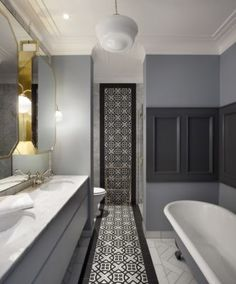 The Ballsbridge Residence is a large residential interior architecture and design project designed by Dublin-based Kingston Lafferty Design. Bathroom Trends, Bathroom Interior, Modern Bathroom, Bathroom Ideas, Bathroom Designs, Bathroom Vanities, Bathroom Remodeling, Wc Retro, Residential Interior Design