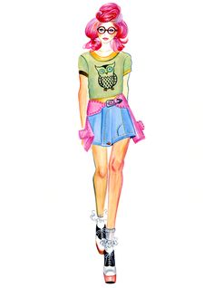 Jeremy Scott-illustration by Sunny Gu #fashion #illustration #fashionillustration