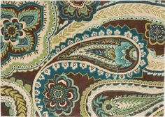 """Graphic area rugs - Paisley in Blue, 5'0"""" x 7'0"""""""