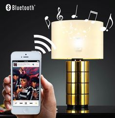 White Led Bulb Musical Bluetooth #bluetooth, #bulb, #speaker Clever Gadgets, Geek Gadgets, Bluetooth Gadgets, White Lead, Led, Home And Deco, Musicals, Smartphone
