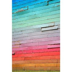 Rainbow Wall ❤ liked on Polyvore featuring home, home decor, wall art, home wall decor, mounted wall art and interior wall decor Rainbow Wall, Home Wall Decor, Palette, Pillows, Wall Art, Pallet Swings, Interior, Backgrounds, Color