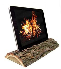 The i-Log for iPad Uses Reclaimed Wood for an Elegant Nature-Friendly Effect #design trendhunter.com
