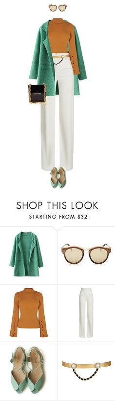 """""""eva1307"""" by evava-c on Polyvore featuring Chicnova Fashion, Le Specs, Brandon Maxwell, Maison Mayle and Chanel"""