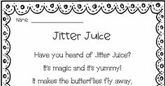 Jitter Juice Recipe With Free Printable Poem for Back to ...